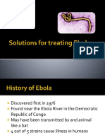 Solutions for treating Ebola