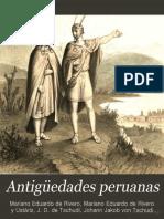 Libro y atlas Antigüedades peruanas (1851) - por Mariano Eduardo de Rivero y Juan Diego de Tschudi