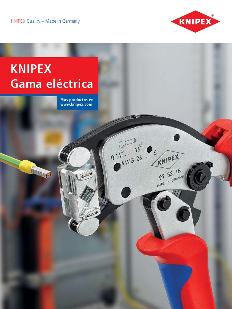 KNIPEX 97 49 30 Mordaza intercambiable para terminales de enchufes redondos