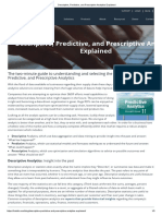 Descriptive, Predictive, and Prescriptive Analytics Explained