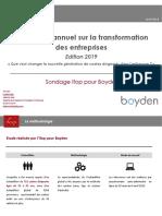 Baromètre annuel sur la transformation entreprise