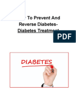 How To Prevent And Reverse Diabetes - Diabetes Treatment