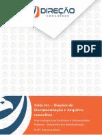 Noções de documentação e arquivo (conceitos)