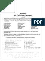 Standard ac service agreement