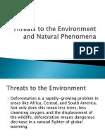 Threats to the Environment and Natural Phenomena