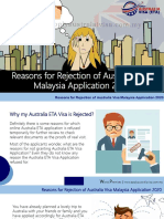 Reasons for Rejection of Australia Visa Malaysia