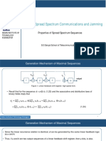Spread Spectrum Communications and Jamming Week 2 Course Material