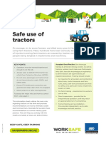 Safe use of tractors