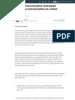 Caustic mercerization and liquid ammonia mercerization on cotton fabric | LinkedIn