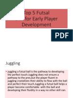 Top_5_skills in playing futsal