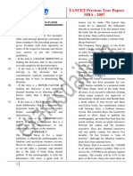 MBA 2007 TANCET Previous Papers 1