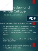 Book Review and Article Critique.pptx