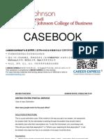 Cornell Johnson Casebook Consulting Case Interview Book康奈尔大学约翰逊商学院管理学院咨询案例面试