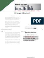 ISO Category II (Analysis I)