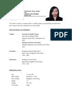 Maricar's Resume'