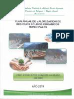 PLAN ANUAL DE VALORIZACION DE RESIDUOS SOLIDOS MUNICIPALES
