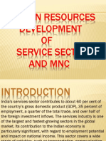 Hrd practices in service sector and mnc.pptx