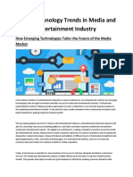 Latest Technology Trends in Media and Entertainment Industry-converted