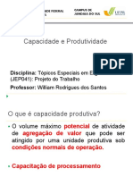 Capacidade e Produtividade