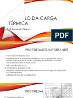 Sistemas frigorificos -  Calculo da carga termica