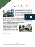 The Edge Quarz Capital Hedge Fund Manager Writes Open Letter to ESR 14 Nov 2019