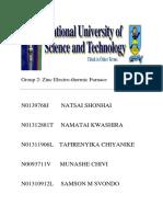 Group 2- Zinc Electrothermic Furnace