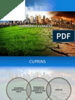 PPT - Schimbari climatice