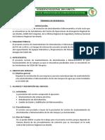 TERMINOS DE REFERENCIA DE ELECTROBOMBA E HIDRONEUMATICO