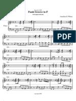 Piano Funk Groove in F