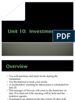 Unit 10 Investments