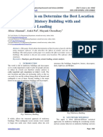 Review Analysis on Determine the Best Location of Porch in Multistory Building with and without Seismic Loading