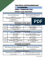Horario I Trimestre 20, E-Learning