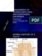 Management of Patients With Oral and Esophageal Disorders