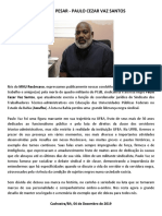 NOTA DE PESAR - PAULO CEZAR VAZ SANTOS (ASSUFBA)