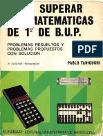 Como superar las matematicas de 1 de BUP. Pablo Taniguchi