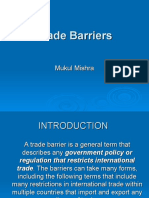 tariff and non tariff barriers in international trade ppt