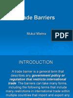 Tariff & Non-Tariff Barriers