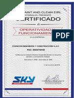 CERTIFICADO OPERATIVIDAD _ ANDAMIO