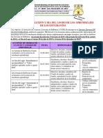 JORNADAS DE REFLEXIÓN Y DÍA DEL LOGRO DE LOS APRENDIZAJES DE LOS ESTUDIANTES
