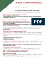 PRECAUCIONES AL USAR EL HORNO MICROONDAS.docx