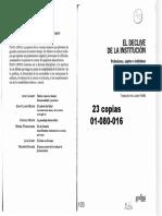01080016 Dubet - Una experiencia sitiada... (El declive de la institucion, cap 4).pdf
