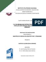 LA VULNERABILIDAD ESTRUCTURAL DE LA VIVIENDA POPULAR ANTE RIESGOS GEOLÓGICOS EN ZONAS URBANAS
