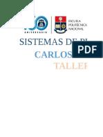 Taller 3, Sistemas de Produccion CARLOS CORELLA.xlsx