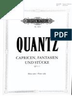 QUANTZ. Capricen, Fantasie und Stücke QV 3_1 Flute solo
