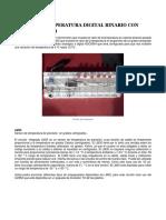 SENSOR DE TEMPERATURA DIGITAL BINARIO CON LM35 Y ADC 0804