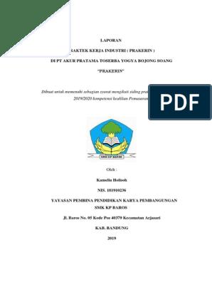 Laporan Praktek Kerja Industri Di Toserba Yogya Bojong Soang Pt Akur Pratama
