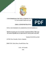 Proyecto Palo Santo Loja Lojita Loja