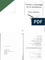 01080054 EDELSTEIN - Formar y formarse en la ense+¦anza - Caps 4 y 5