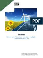 Sistema Solar Fotovoltaico para Micro-Produção e Solar Térmico para A.Q.S.