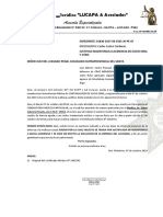 JUSTIFICO INASISTENCIA A AUDIENCIA DE JUICIO ORAL Y OTRO